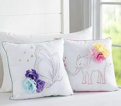 Flower Applique Pillows #pbkids