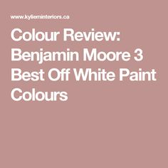Colour Review: Benja