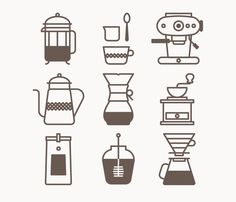 Alliteration Inspiration: Coffee & Currency / on Design Work Life Jason Michael Green / Icon set