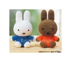 Mini Miffy and Friend Amigurumi Crochet Pattern by FunHandicraft, $2.99