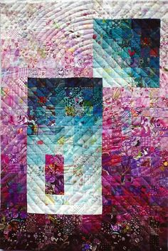 """""""Interplay"""", 27 x 18"""", by Ruby Horansky   Art Quilter"""