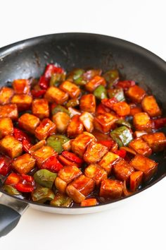 Sweet and Sour Tofu. - Sweet and sour tofu, made in just 30 minutes. A plant-based version of this classic Chinese food that is much better and healthier than take out! #vegan #glutenfree #simpleveganblog