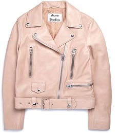17a0a0397bf Acne Studios Mock Crop Leather Jacket ...