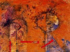 Rufino Tamayo - Dos figuras en amarillo