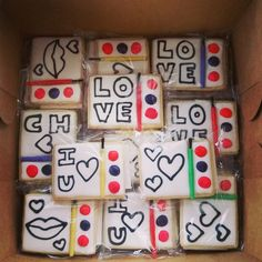 Valentines Day Cookies, Paint Your Own Cookies