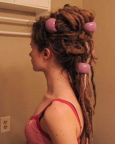 Dread Holding Beads Purple Goddess by Syrenfire on Etsy Dread Hairstyles, Cool Hairstyles, Beautiful Dreadlocks, Dreads Girl, Dreads Styles, Dread Beads, Matted Hair, Wild Hair, Deviantart