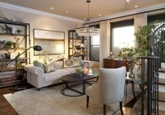 Vibrant-transitional-living-room-before-and-after