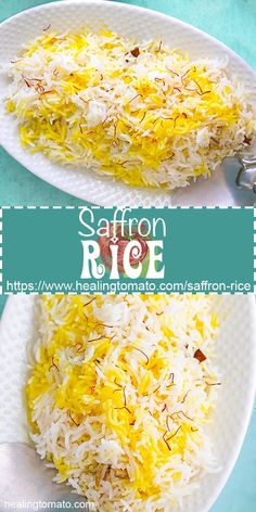 Vegan Saffron Rice is very easy to make using Spanish saffron Basmati Rice Recipes, Mexican Rice Recipes, Easy Rice Recipes, Indian Food Recipes, Low Carb Recipes, Autumn Recipes Vegetarian, Vegetarian Comfort Food, Healthy Vegetable Recipes, Winter Recipes