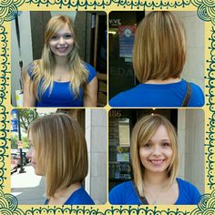 Before and after locks of love long bob