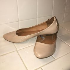 Chic Meets Rocker Nude Flats Selling these beautiful nude flats with studded backs. Only worn twice! Thought I would try something new with the studs but it just isn't my style. No scuffs and have only been worn with socks. Mossimo Supply Co. Shoes Flats & Loafers