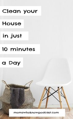 A simple cleaning hack to keep your house clean in just 10 minutes a day. This cleaning schedule details what to do daily and weekly so that you can always have a clean. organized home! Beauty Tips Easy, Daily Life Hacks, Clean Mama, Newborn Care, Good Parenting, Baby Needs, Staying Organized, Home Organization, Clean House