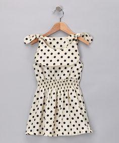 Black & White Polka Dot Clover Dress