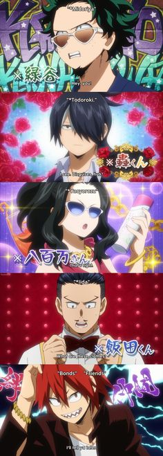 Boku no Hero Academia // play dress up Yaoyorozu. Midoriya, Todoroki, Yaoyorozu, Iida & Kirishima.