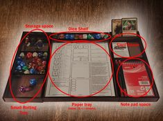 A gaming accessory to help organize any Table Top RPG player. Games like D&D, Pathfinder, Open Legend and more
