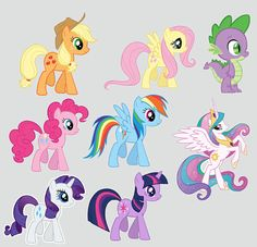 My Little Pony Centerpiece files Digital Print as many as you need on Etsy, $10.00