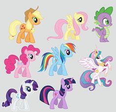 My Little Pony digitalparties on etsy