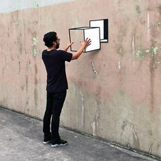 Pixeloft — Optical Illusion Art by Brooklyn-Based Artist. 3d Street Art, Amazing Street Art, Street Art Graffiti, Street Artists, 3d Art, 3d Wall Art, Wall Murals, Illusion Kunst, Illusion Art