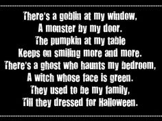 halloween quotes and poems Spooky Halloween, Halloween Poems, Halloween Signs, Holidays Halloween, Vintage Halloween, Halloween Crafts, Happy Halloween, Halloween Decorations, Halloween Stuff