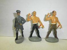 Konvolut 3 alte Hausser Elastolin Massesoldaten Lagerleben Luftwaffe zu 7.5cm | eBay