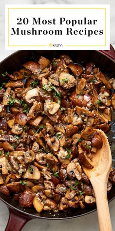 Kitchn's 20 Most Popular Mushroom Recipes - Food: Veggie tables Vegetarian Mushroom Recipes, Low Calorie Vegetarian Recipes, Veggie Recipes, Soup Recipes, Dinner Recipes, Cooking Recipes, Healthy Recipes, Vegetarian Appetizers, Healthy Eats