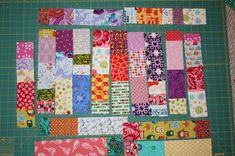 "Scrap quilt tutorial (simple and random) - see sample in ""quilt ideas"""