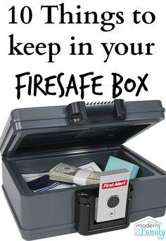 firesafe box must haves