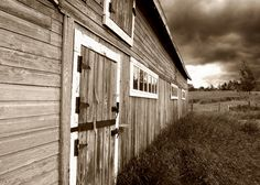 Sepia Landscape Photography of a barn.  - Sepia Photography #landscapephotography #landscape #nature #dream #HDR #photography #photooftheday