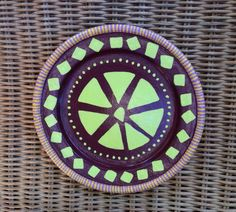 Decorative wooden plate with African Symbols by becreativeshop, $25.00