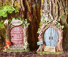 Miniature Dollhouse Fairy Garden Welcome Door - Your Choice - Buy 3 Save $5