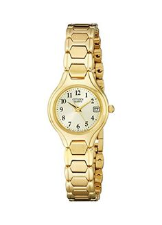 Women's Wrist Watches - Citizen Womens EU225256P GoldTone Stainless Steel Watch *** Be sure to check out this awesome product.