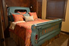 You can quite literally turn your truck bed into a bed. Attach the back cab and tailgate of an old truck to your bed frame to build the bed of every Chevy lover's dreams.