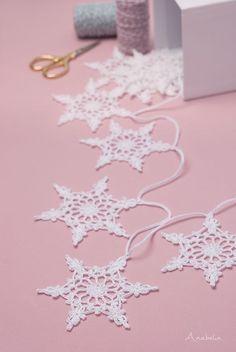 Snowflake crochet motif nr 4 pattern by Anabelia Craft Design   crochetpatterns  christmas  knitting b5ef554651