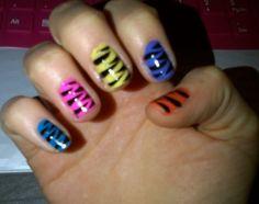 Colourful tiger stripes