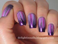 Delight In Nails: 52 Week Pick n Mix - Waterfall + Violet Purple Nail Art, Purple Nail Polish, Nail Polish Colors, Toe Nail Designs, Acrylic Nail Designs, Nail Design Glitter, Violet Nails, Crazy Nails, Trendy Nail Art