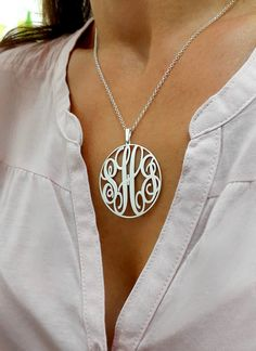 Pretty cool, different from what i have seen around    https://www.etsy.com/listing/209092233/statement-circle-monogram-necklace-15