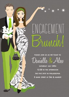 Engagement Party Grey Invitation