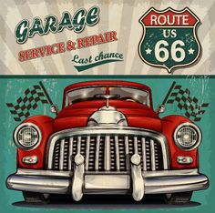 Vintage car poster grunge style vector 01 - Vector Car, Vector Cover free download