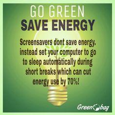 #greenobag #greentip #gogreen save energy save environment