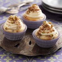 Cannoli Cupcakes Fill these chocolate-studded cupcakes with sweet ricotta frosting to mimic the favorite Sicilian pastry. Garnish with additional frosting, pistachio nuts, and grated chocolate.