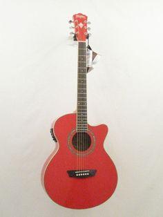 Washburn Festival Series Model EA12R Red Acoustic /Electric Guitar - blem #1009 #Washburn