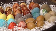 DIY Easter Eggs - Before you run out to purchase an Easter egg dye kit, check your home, you may have all the ingredients to do it yourself.