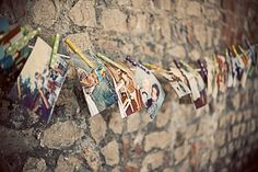 pictures on a clothes line