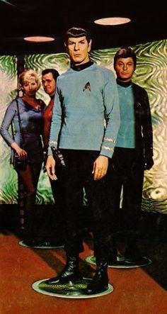 Chapel, Scotty, Spock, McCoy