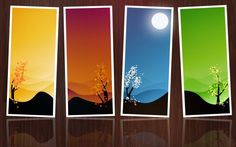 A beautiful picture of Four Seasons In A Frame downloaded from http://alliswall.com