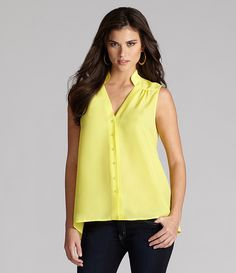 Gianni Bini Trixie Blouse   Dillards.com/great with little white shorts,maybe evn a really colorful short neacklace.Hmmm