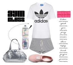 """""""Gym Class"""" by sweet-fashionista ❤ liked on Polyvore featuring Topshop, Vans, American Vintage, NIKE, Victoria's Secret and SO"""