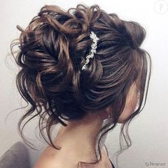 Kids Hair Styles - Idée Tendance Coupe & Coiffure Femme 2018 : Description nice Coiffure de mariage 2017 – Beautiful updo wedding hairstyle for long hair perfect for any wedding venue – T… Medium Hair Styles, Short Hair Styles, Updos For Medium Length Hair, Updo Styles, Medium Hairs, Up Dos For Medium Hair, Peinado Updo, Wedding Hair Inspiration, Wedding Ideas