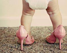 baby in mommy's heels