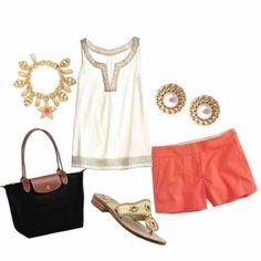 I'd never wear the shorts but I love the look, especially the top. Love the Greek goddess vibe.