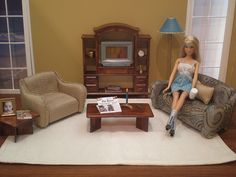 Barbie Living Room by Missypants, via Flickr 1:6th Scale